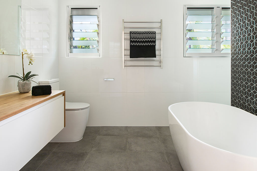 Bathroom Renovation Brisbane With White Colour Modern Style Full Bathroom View