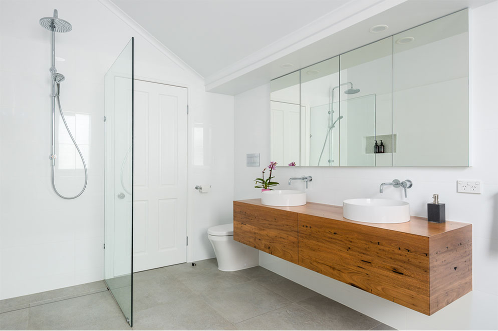 Bathroom Renovation Brisbane Wooden Style Full Bathroom View