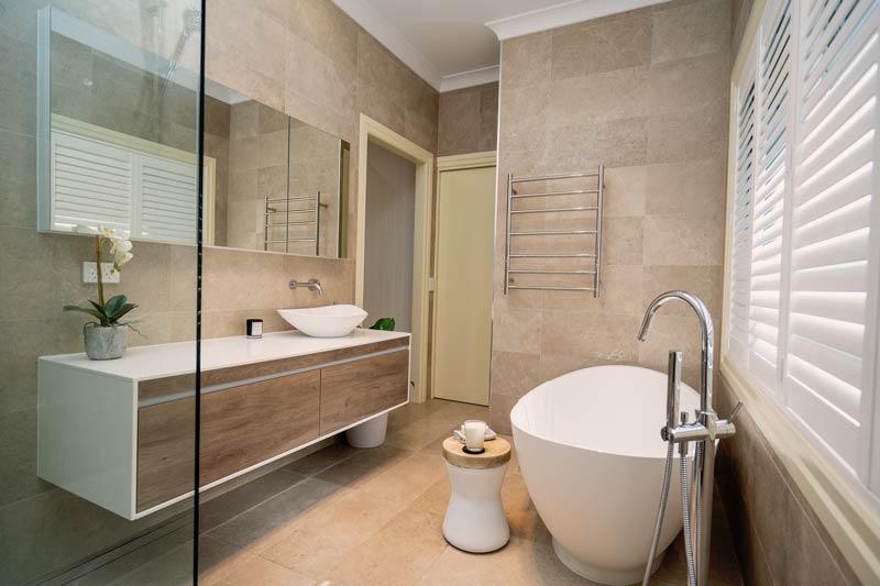 Large Bathroom Vanity Renovation Brisbane - KBDI 2019 Finalist