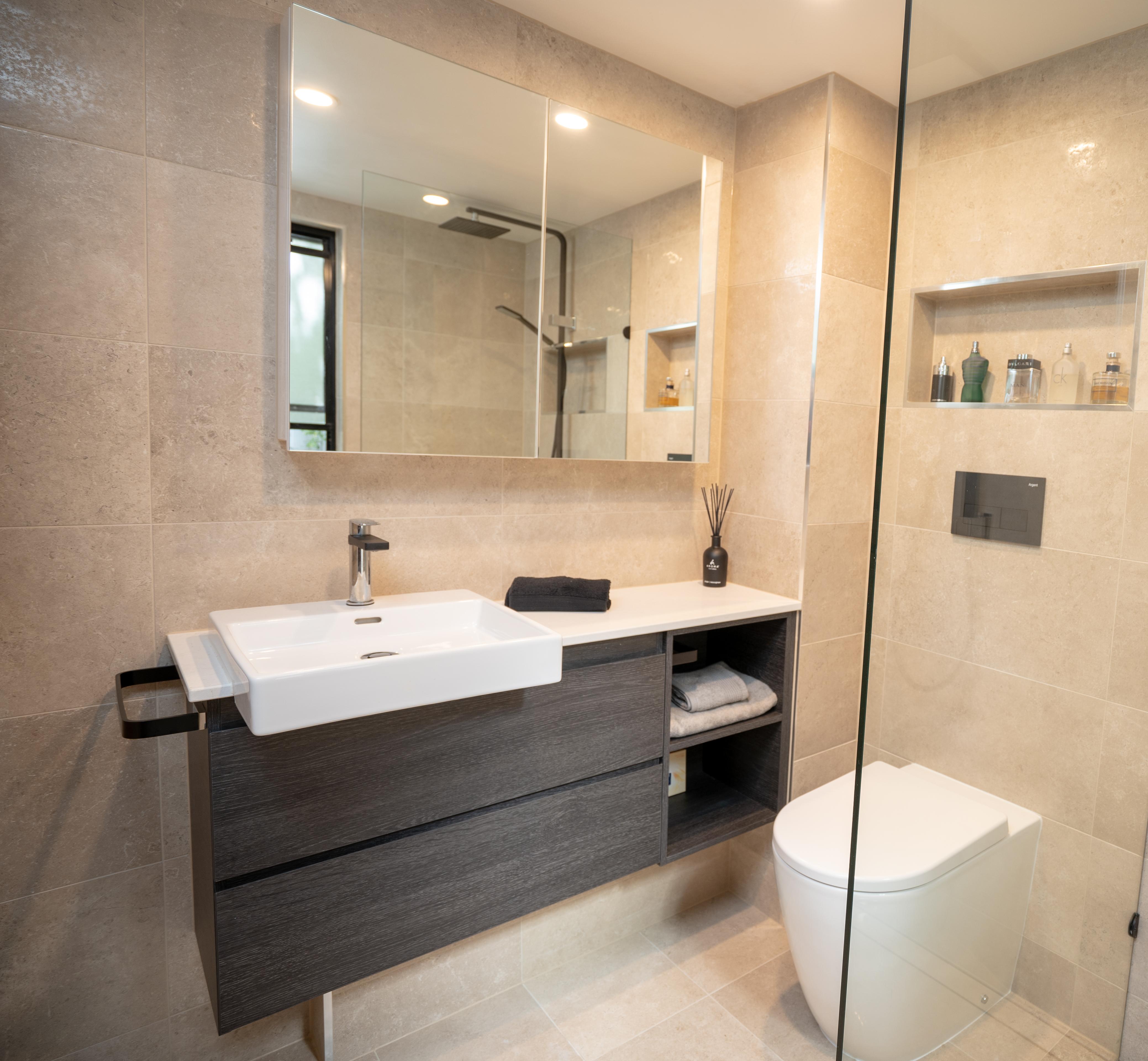 Small Bathroom Vanity Renovation - Bowen Hills